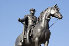 King George IV Statue. Statue in Trafalgar Square, London of King George IV (1762-1830). George the Fourth was King of England, Scotland and Ireland for ten Royalty Free Stock Photos