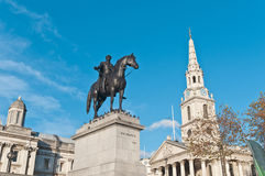 King George IV statue at London, England Stock Photos