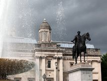 King George IV Statue, Trafalgar Square, London Royalty Free Stock Images