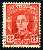 King George VI Australian Postage Stamp Stock Image
