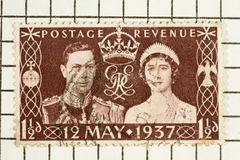 King George VI, stamp Stock Photography