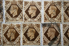 King George VI stamps Royalty Free Stock Photography