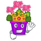 King geranium flowers in the cartoon shape. Vector illustration royalty free illustration