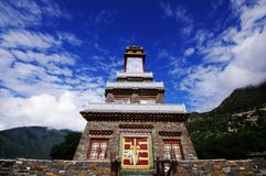 King Gesar tower. :Tower or monument Stock Images