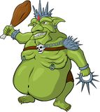 King of goblins. Vector cartoon king of goblins on white background Stock Image