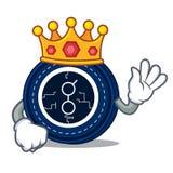 King golem coin mascot cartoon. Vector illustration Royalty Free Stock Photos