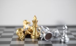 King is the great than another one left in the board. Chess board is the intelligence strategy game to make ideas for business and marketing concept, the stock photography