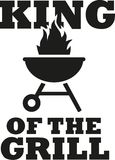 King of the grill with grill icon Stock Illustration