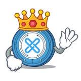 King Gxshares coin mascot cartoon. Vector illustration Stock Image