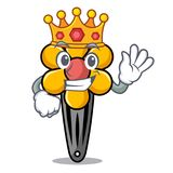 King hair clip mascot cartoon stock illustration