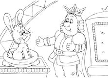 King and hare Royalty Free Stock Photography
