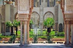 King Hassan II Mosque, Casablanca, Morocco. Garden in the Casablanca King Hassan II Mosque, Morocco Royalty Free Stock Image