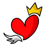 King heart Stock Photos