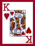 King of Hearts. Playing card stock illustration