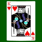 King hearts. Card suit icon , playing cards symbols. Set icon symbol suit, card suit icon sign, icon - stock Stock Images
