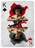 King of Hearts end spades  playing card Royalty Free Stock Images