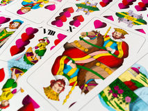 King of hearts german playing cards. New deck Royalty Free Stock Image