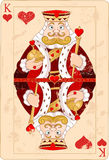 King of hearts. Illustration of king of hearts card Royalty Free Stock Photos