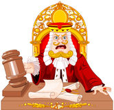 King of Hearts Judge with gavel Royalty Free Stock Photography