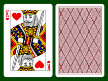 King of hearts. Playing card with a King of hearts and backside background. There is in addition a vector format Stock Images
