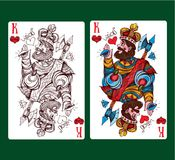King of hearts playing card suit. Vector illustration royalty free illustration