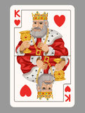 King of hearts playing card Royalty Free Stock Photo