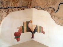 King Herod's Palace details at Masada, Judean desert, Israel Royalty Free Stock Photography