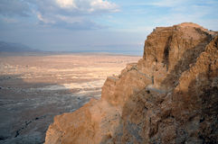 King Herod's northern palace. View on King Herod's northern palace and Dead sea. Masada national park, Israel Royalty Free Stock Photos