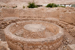 King Herod's palace ruins. Excavations near Jericho city of ancient palace Royalty Free Stock Photos