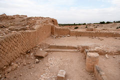 King Herod's palace ruins. Excavations near Jericho city of ancient palace Stock Images