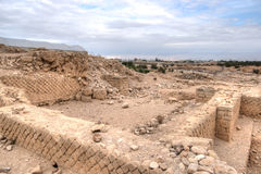 King Herod's palace ruins. Excavations near Jericho city of ancient palace Stock Photography