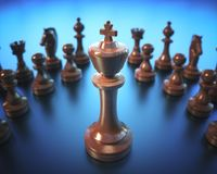 King Chess Game Board Royalty Free Stock Photography