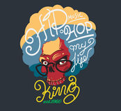 King hip hop typography, t-shirt graphics. Stock Image
