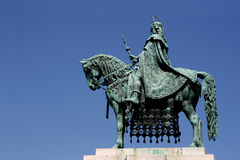 King and his horse in Budapest Royalty Free Stock Images