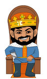 The  King in his trone Stock Image