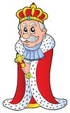 King holding sceptre Stock Images
