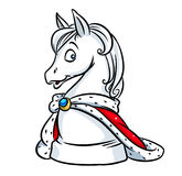 King horse chess cartoon Stock Photos