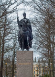 King horseman riding bronze statue horse, Frantiskovy lazne, Franciscus Stock Photos