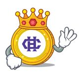 King Hshare coin mascot cartoon. Vector illustration Royalty Free Stock Image