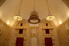 King Hussein Bin Talal mosque in Amman (at night), Jordan Stock Image