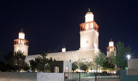 King Hussein Bin Talal mosque in Amman (at night), Jordan Stock Photography