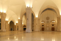 King Hussein Bin Talal mosque in Amman (at night), Jordan.  Stock Photos
