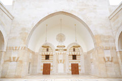 King Hussein Bin Talal mosque interior in Amman Stock Image