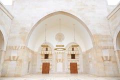 King Hussein Bin Talal mosque interior in Amman Stock Image