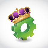 King of the industry. concept illustration design Royalty Free Stock Image