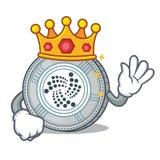 King IOTA coin character cartoon. Vector illustration Stock Photography