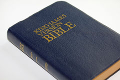 King James Version Bible. A navy blue King James Version Bible isolated on a white background Royalty Free Stock Photo