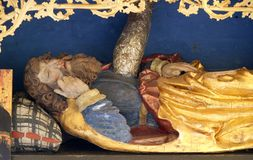 King Jesse. Altar in chapel Amorsbrunn in Amorbach, Forest of Odes Bavaria, Germany royalty free stock photos