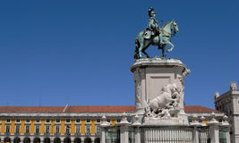 King Joao I Lisbon. Statue of King Joao I of Portugal in city of Lisbon Royalty Free Stock Photo