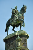 King Johann Sculpture in Dresden Stock Photos